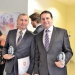 Fehér István az ELMS és Szőcs Károly az E-Educatio vezérigazgatója a november 7-i díjátadón.